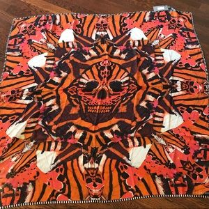 Alexander McQueen Tiger Wings Silk Scarf-New
